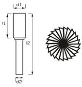 Immagine di Fresa rotativa MD cilindrica denti frontali AB8111