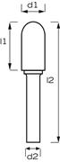 Immagine di Fresa rotativa MD testa sferica AB8200