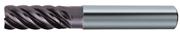 Immagine di Fresa in metallo duro ad alte prestazioni TA1440, rivestita Nano TiAlN, elica 44/45/46° a passo differenziato, 6 taglienti, corta per super finiture in contornatura