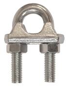 Immagine di Morsetto a cavallotto per fune, certificato CE