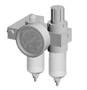 Immagine di Gruppo filtro riduttore e lubrificatore per morsa modulare oleopneumatica