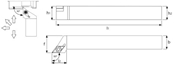 Immagine di Utensile di tornitura esterna SDJC R/L TA5085