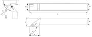 Immagine di Utensile di tornitura esterna SVJC R/L TA5120