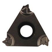 Immagine di Inserto per filettatura Whitworth 55° tipo E a profilo completo di precisione rettificato, con rompitruciolo sinterizzato